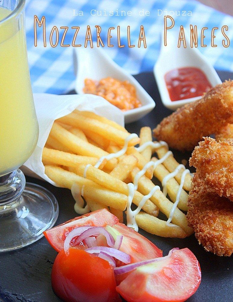 nuggets de mozzarella frits
