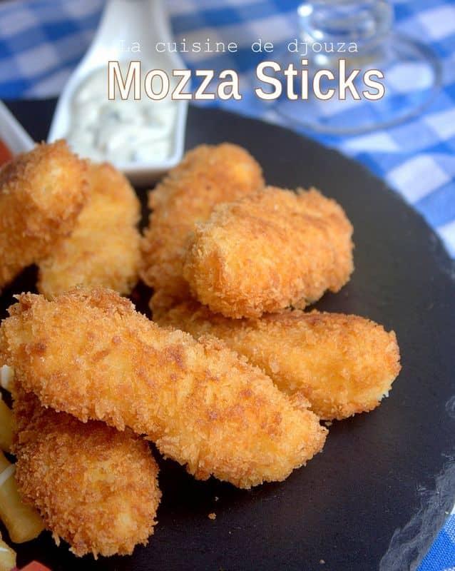 Batonnets de mozzarella panés