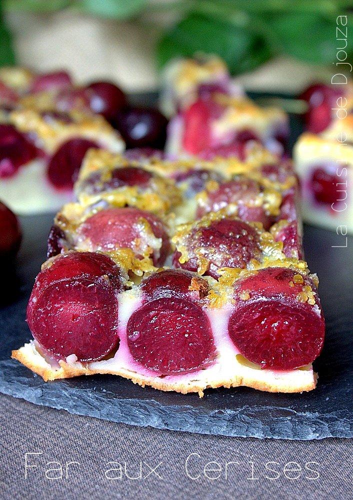 Far aux cerises et pistaches