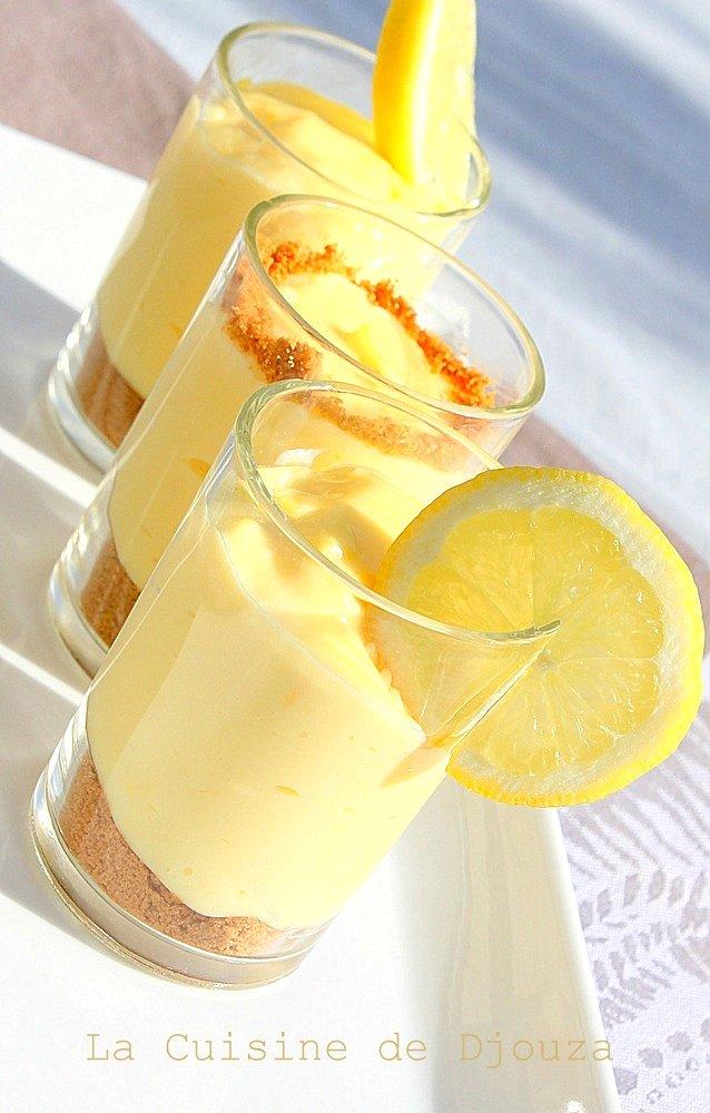 Verrine spéculoos crème citron