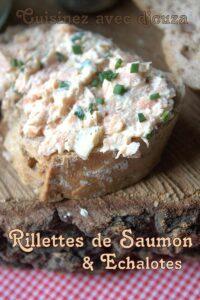 Rillettes de saumon et echalotes