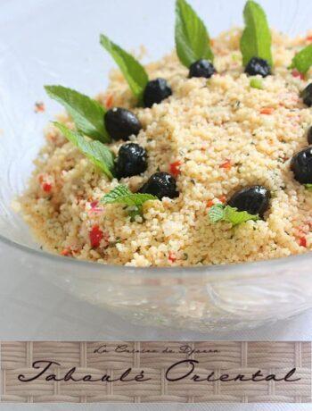 Taboulé oriental à la semoule menthe et raisins secs