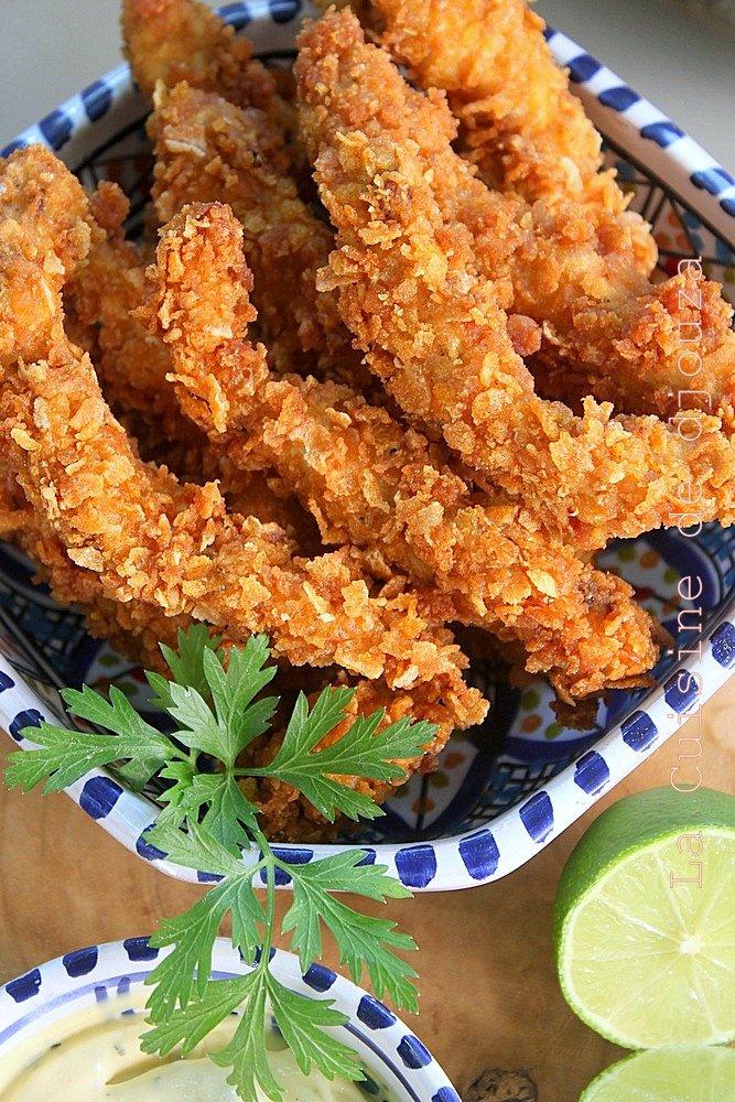 Recette aiguillettes poulet panées tandoori