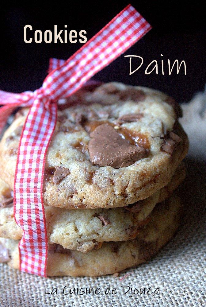Recette de cookies daim caramel