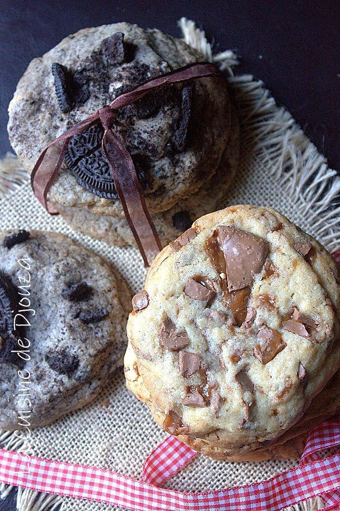 Recette de cookies rapides aux daim et biscuits oreo