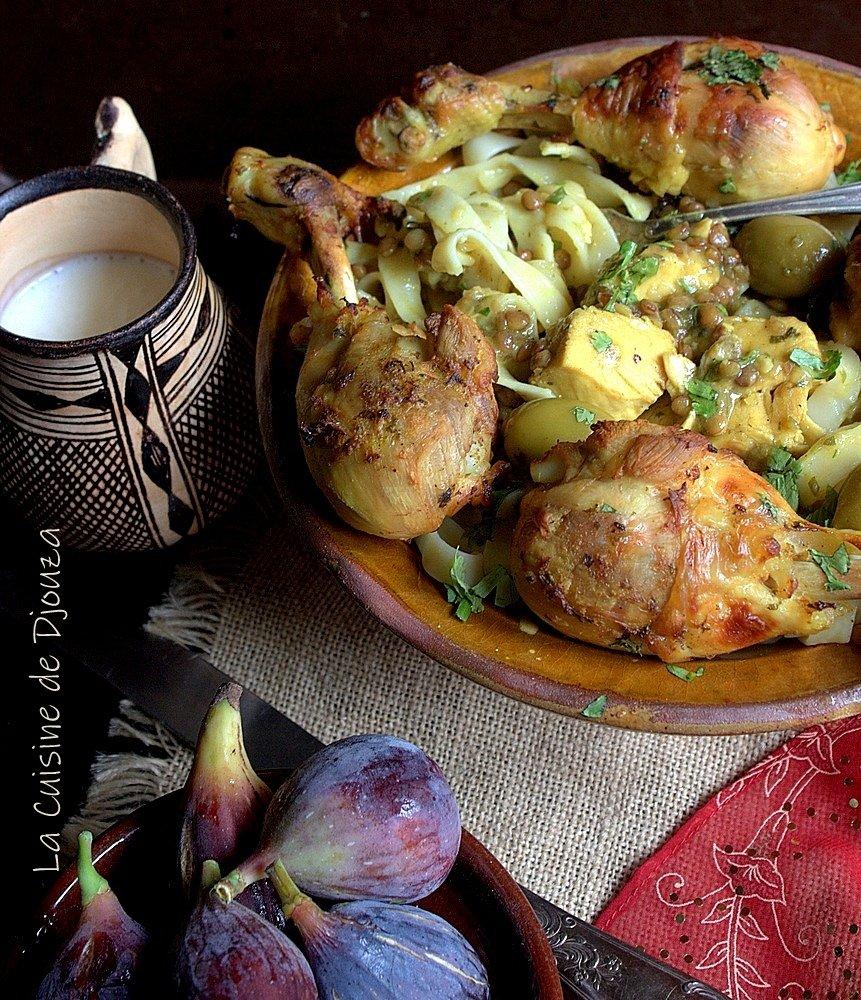 Sauce blanche aux lentilles pour poulet
