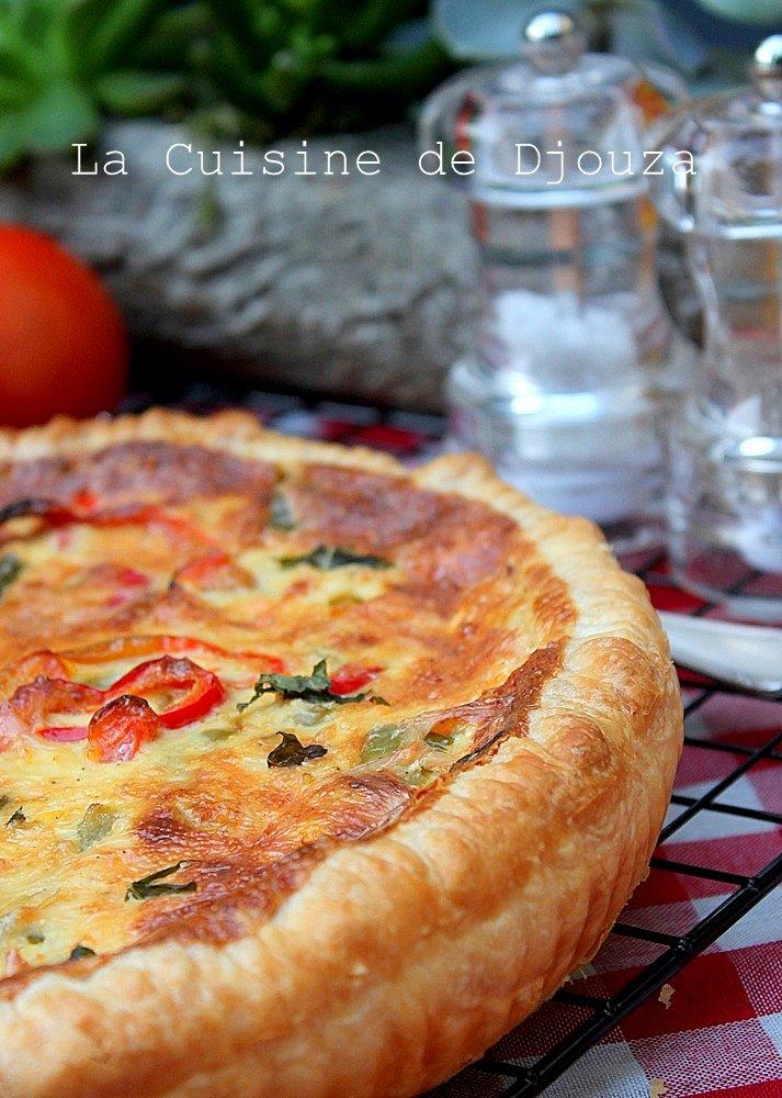 Quiche provençale poivrons et tomates