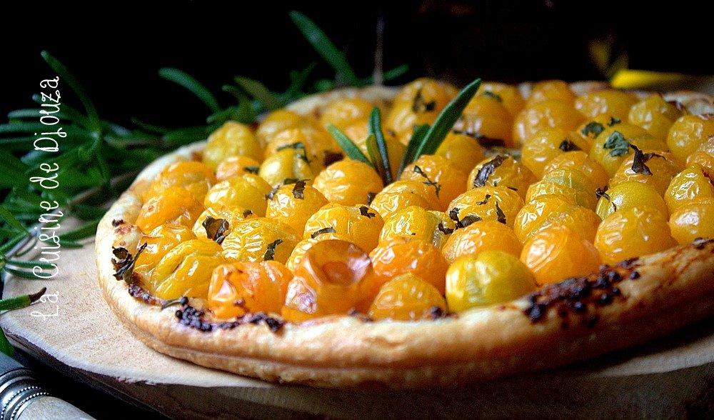 tarte fine aux tomates bonbons et moutarde