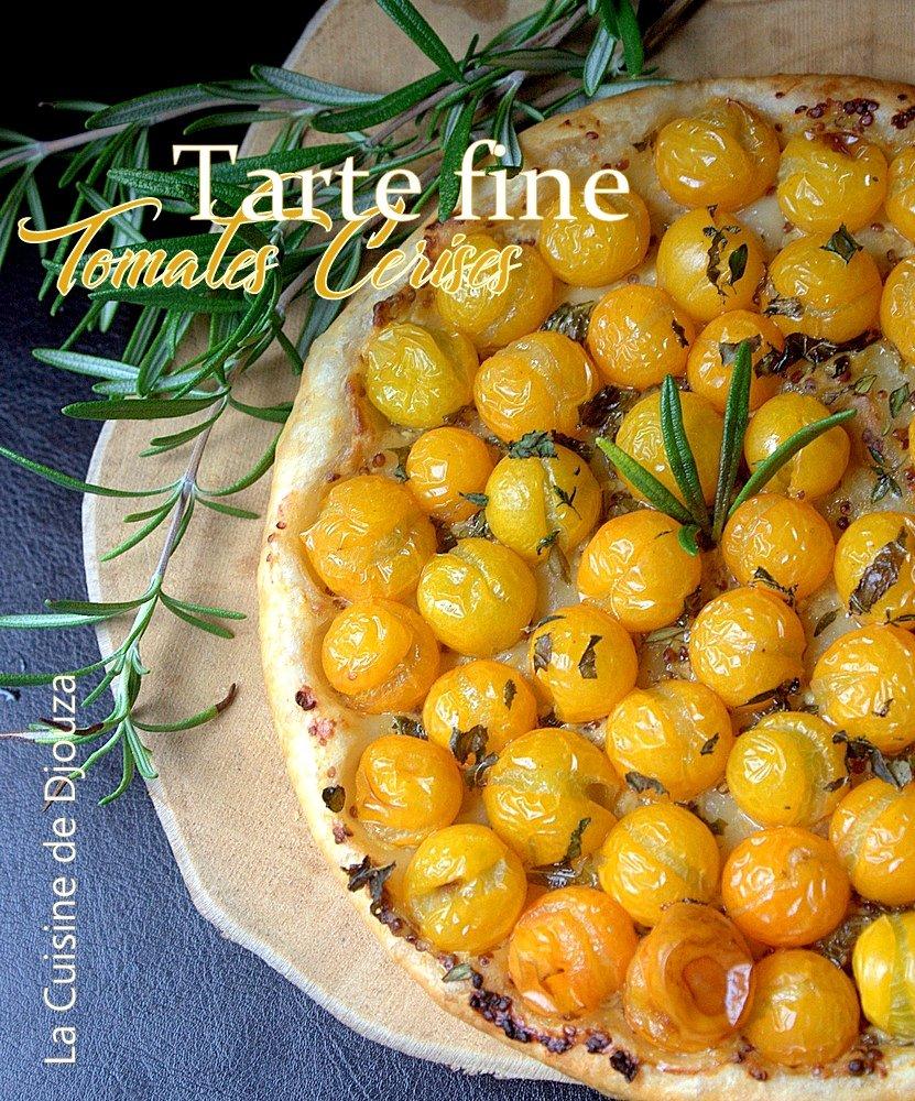 tarte tomates cerise et moutarde