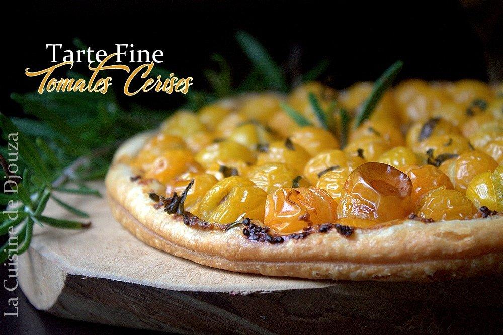 Tarte fine pâte feuilletée et tomates cerises