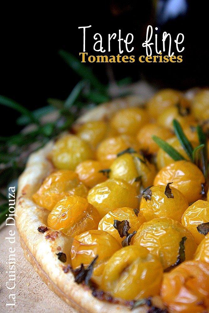 Tarte fine moutarde tomates basilic