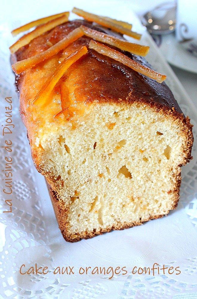 Cake facile aux écorces d'oranges confites
