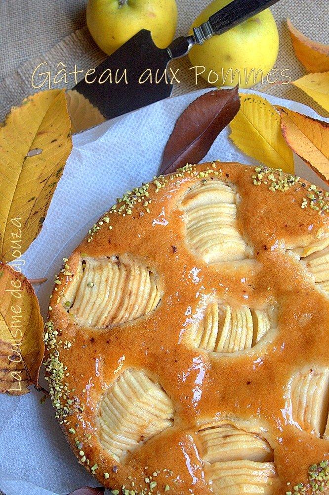 Gâteau aux demi pommes serrées