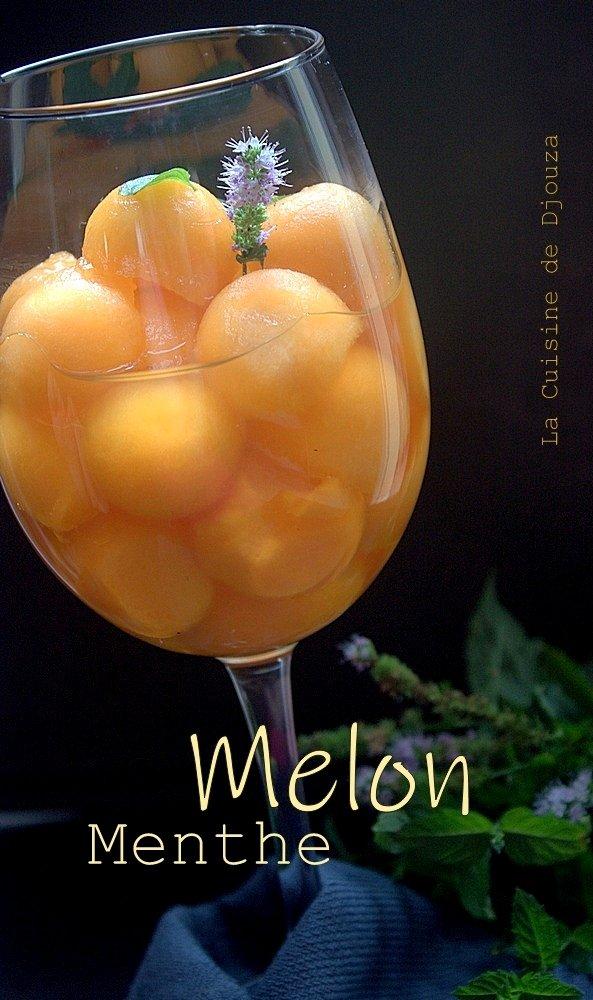 Melon cantaloup à la menthe