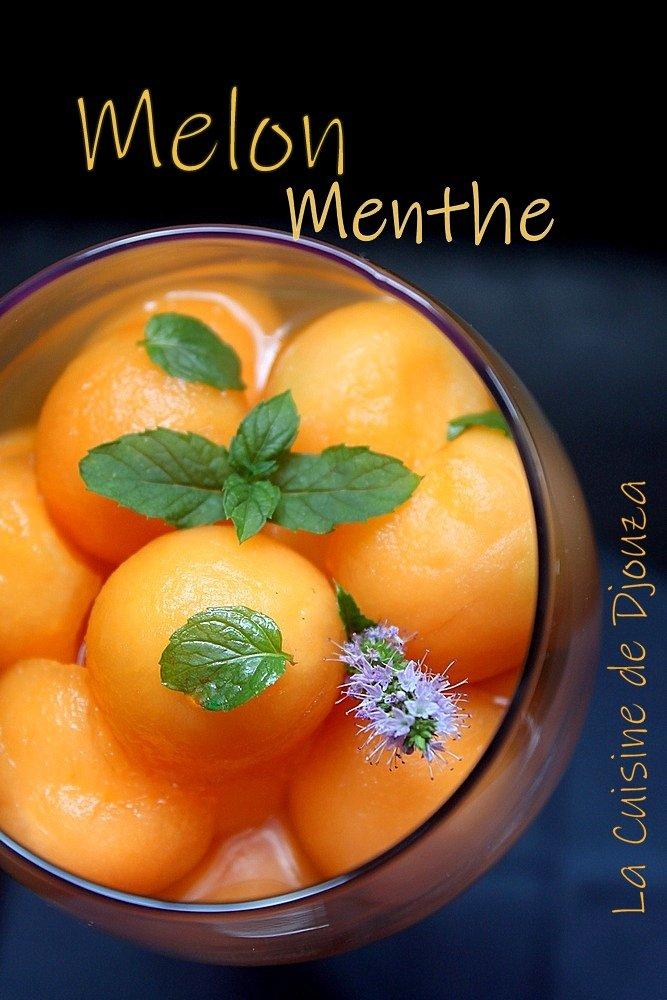 Billes de melon de cavaillon menthe