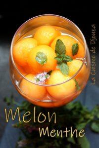 boules de melon à la menthe