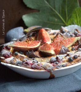 pain perdu rapide aux figues et fruits rouges