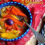 Salade froide de poivrons cuits et grillés