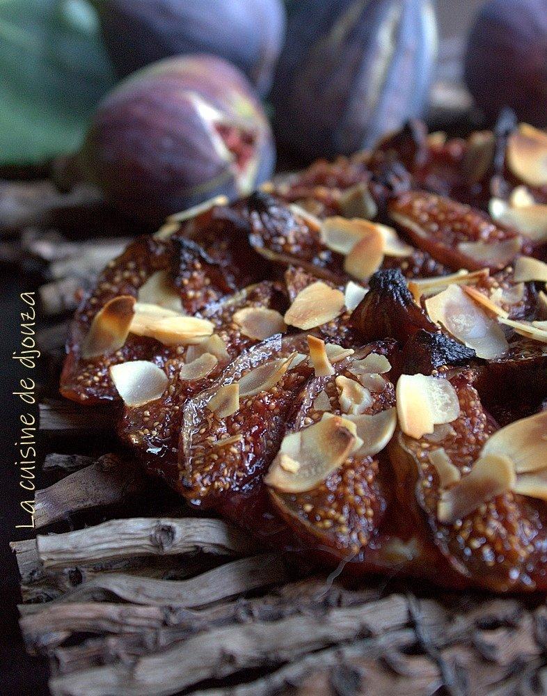 tarte fine aux figues fraîches violettes
