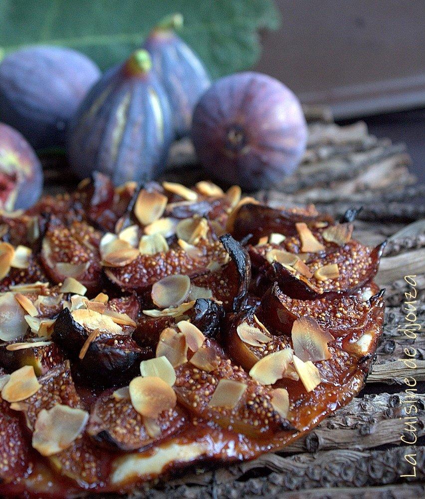 Tarte fine aux figues violette
