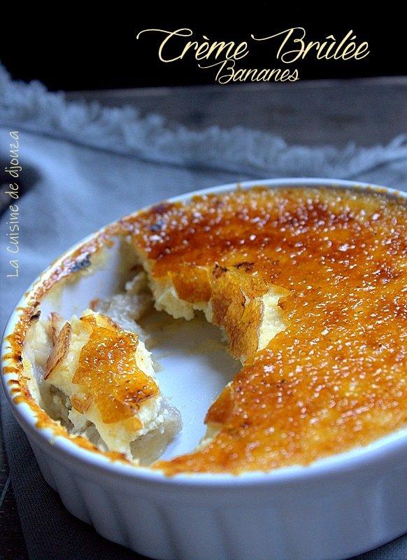 Crème brûlée à la compotée de bananes
