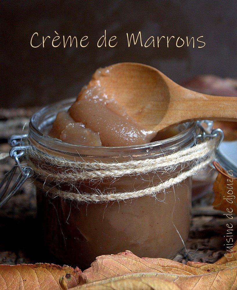 crème de marrons ou crème de châtaignes