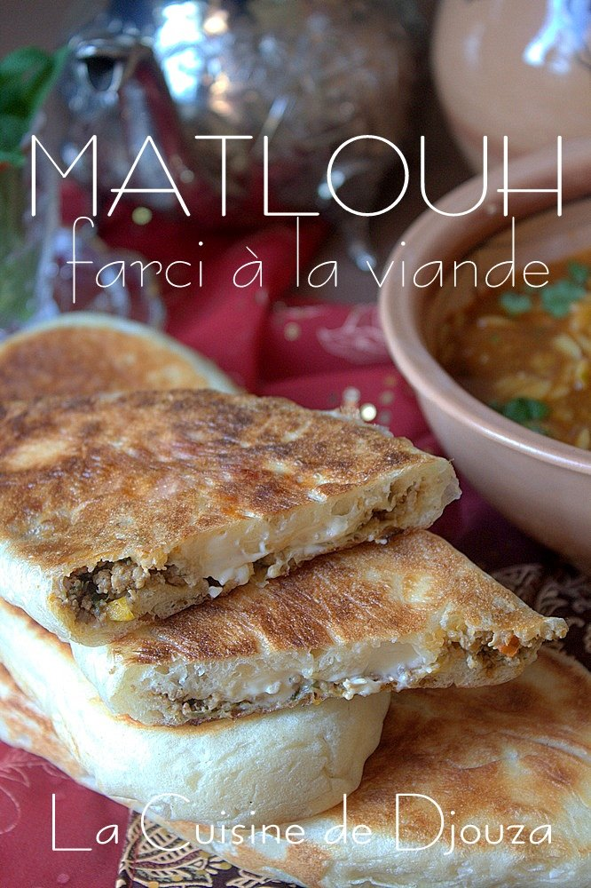Matlouh farci pain algérien