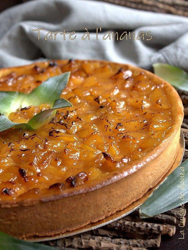 délicieuse tarte à l'ananas caramélisé