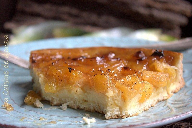 Tarte à l'ananas et crème pâtissière vanillée