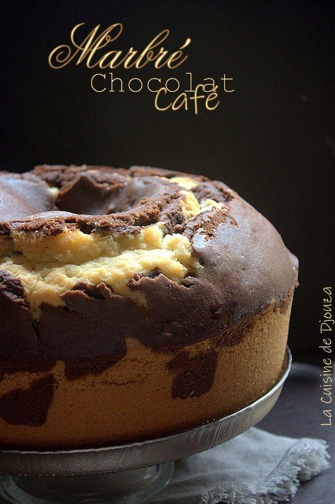 Recette gateau marbré chocolat café facile