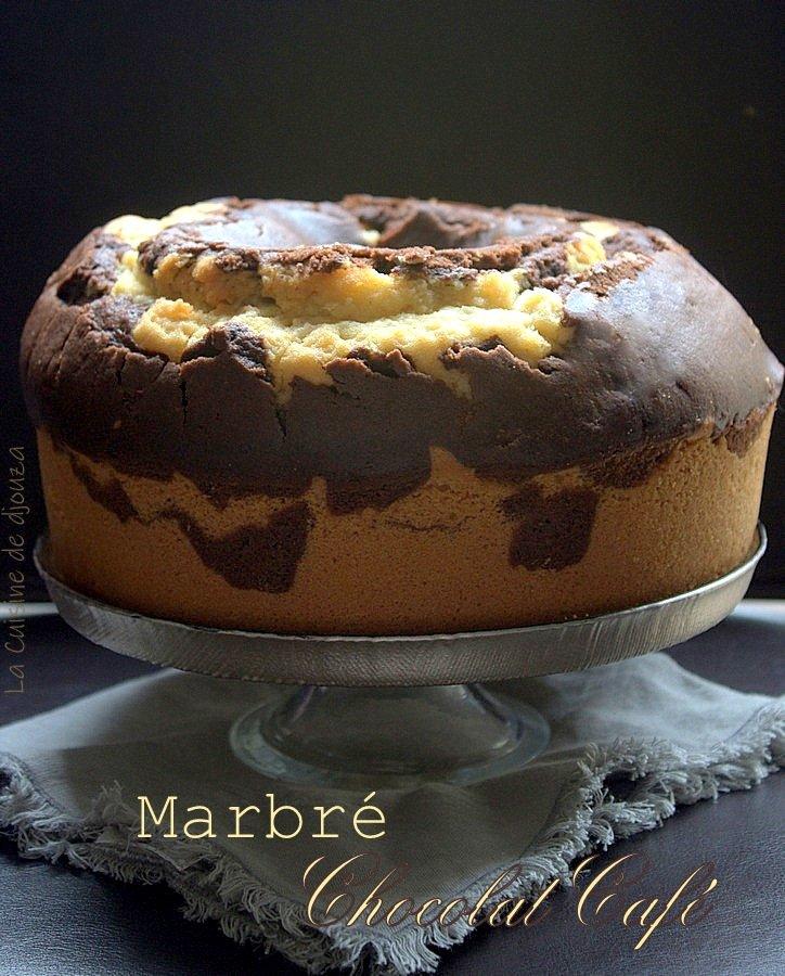 Gâteau marbré chocolat et café très gourmand