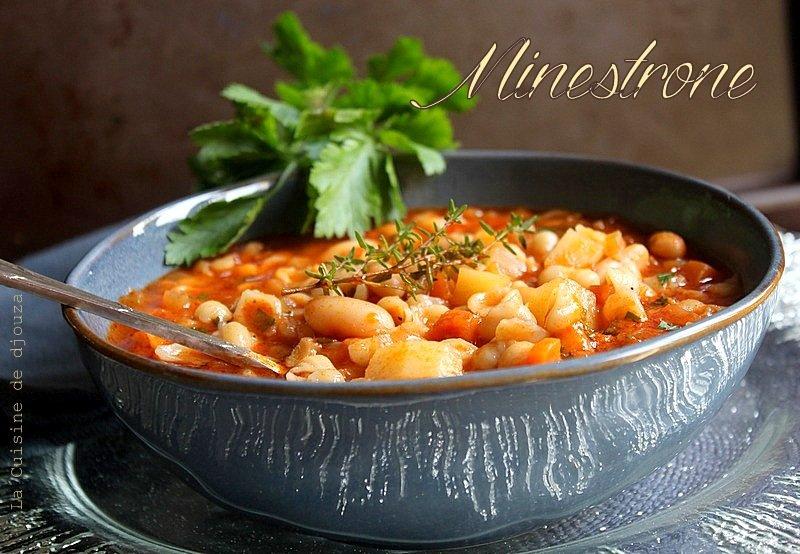 Minestrone soupe à l'italienne