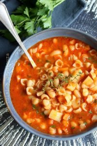 Minestrone soupe de pates