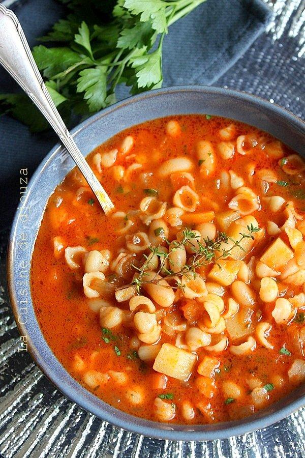soupe de pates et légumes