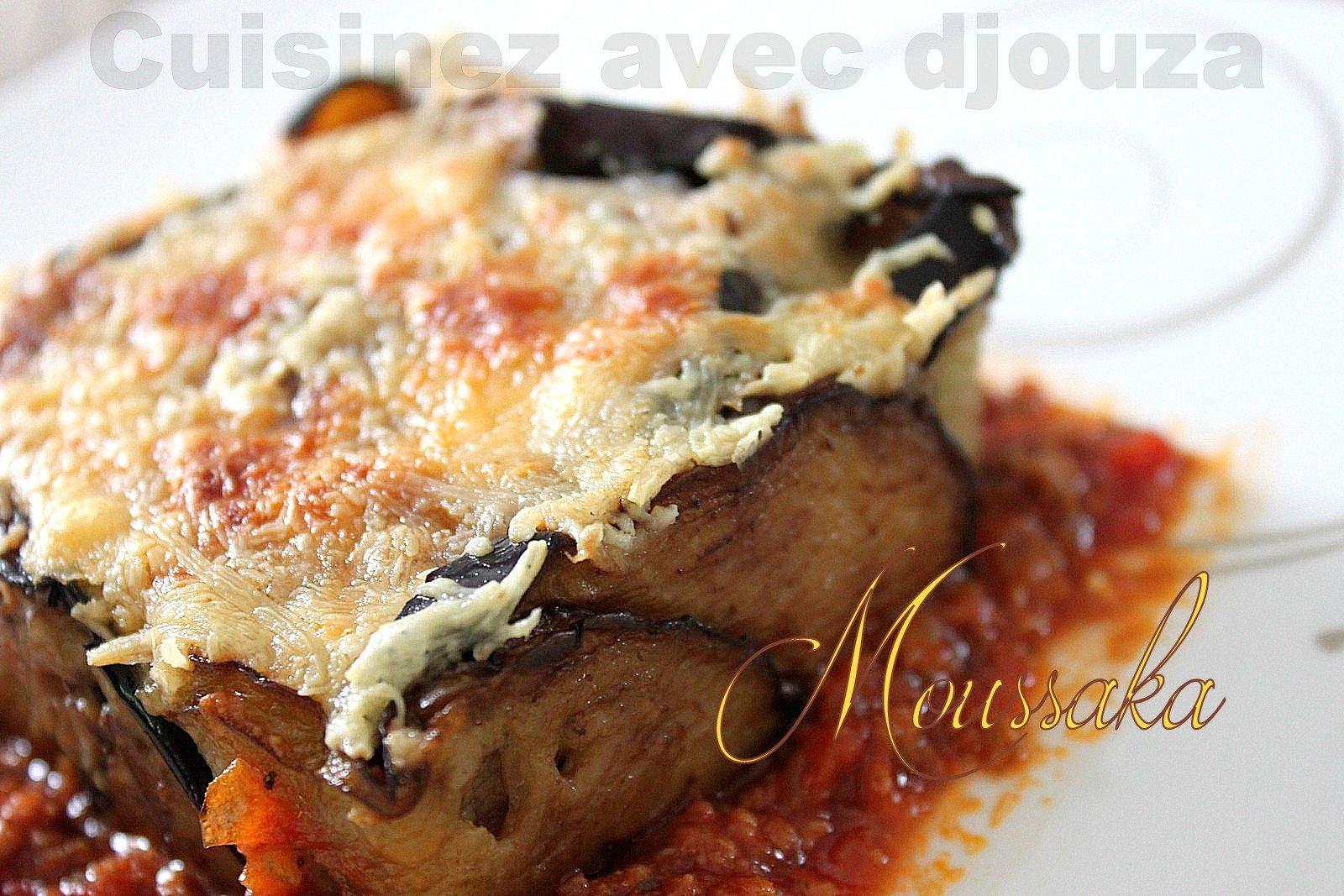 Recette moussaka d'aubergine