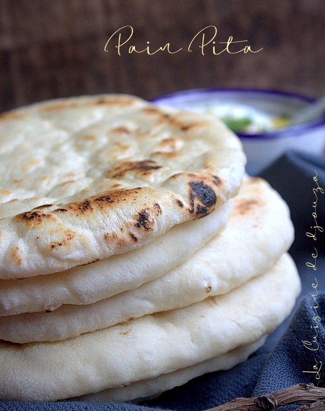pain pita cuit à la poêle (pain libanais)