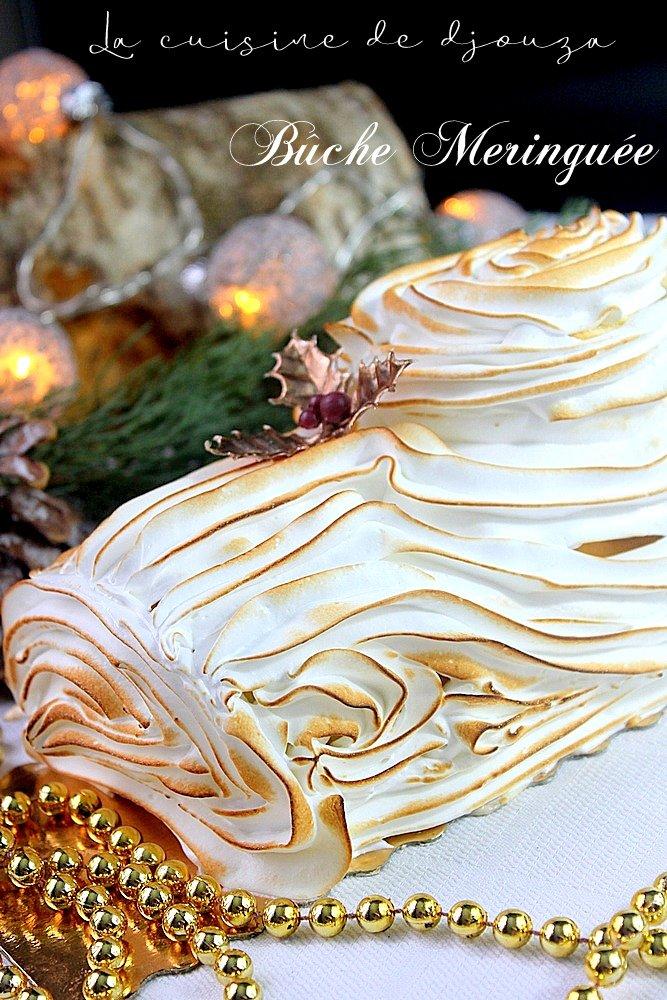 Buche de noel mascarpone lemon curd meringuee