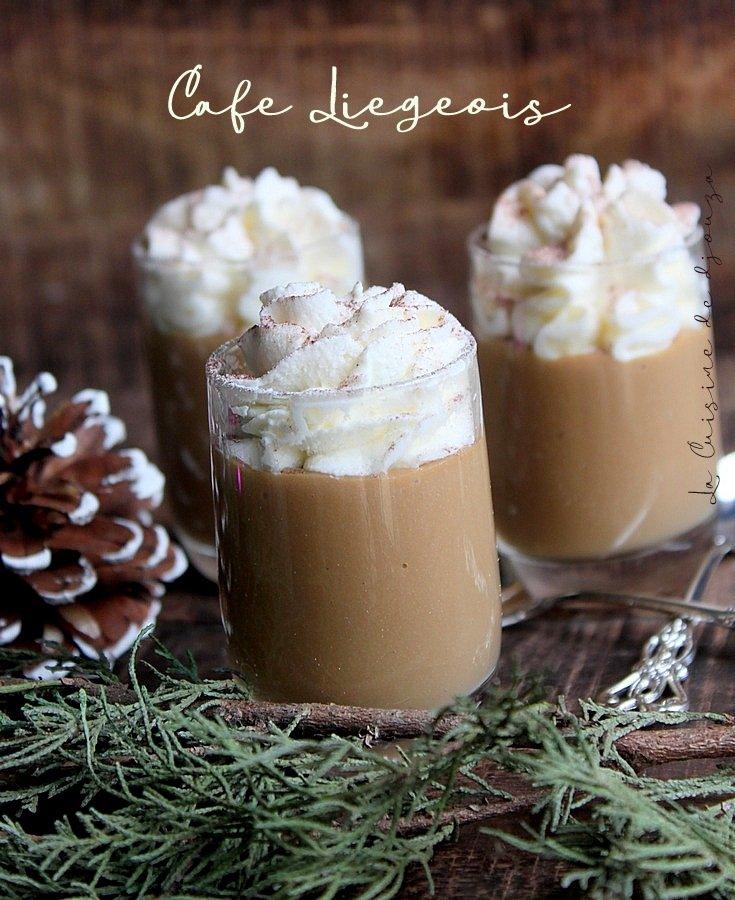 Crème au café liegeois ou dessert viennois