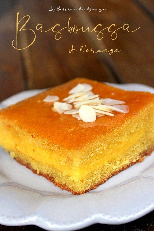 Basboussa à la crème d'orange
