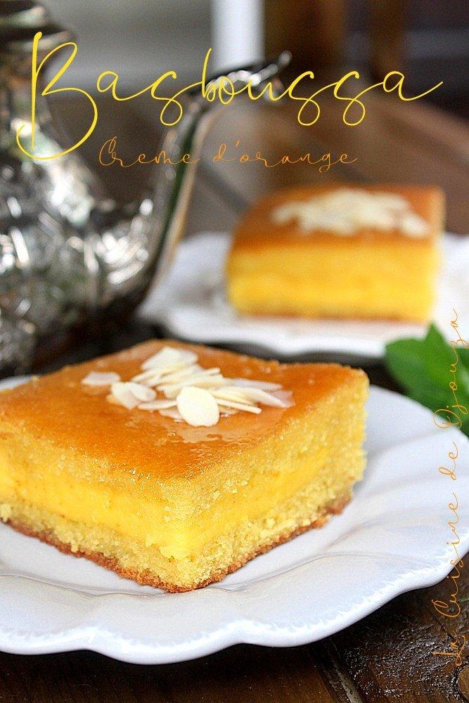 Basboussa ou namoura à la crème d'orange