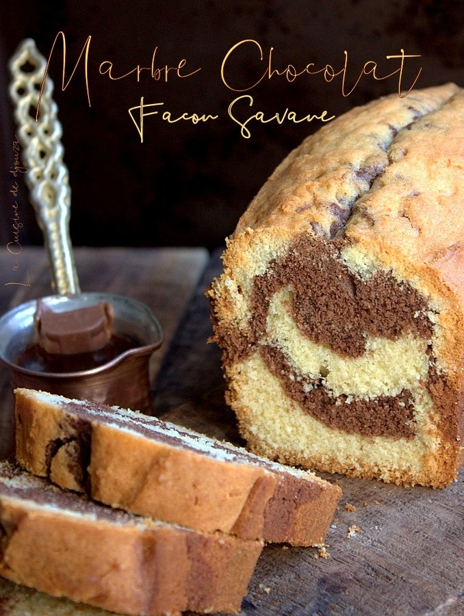 Cake marbré trop facile au chocolat