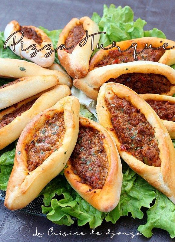 Pizza Turque à la viande hachée (Kiymali pide )