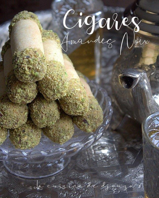 Recette de cigares aux amandes noix cuisson au four