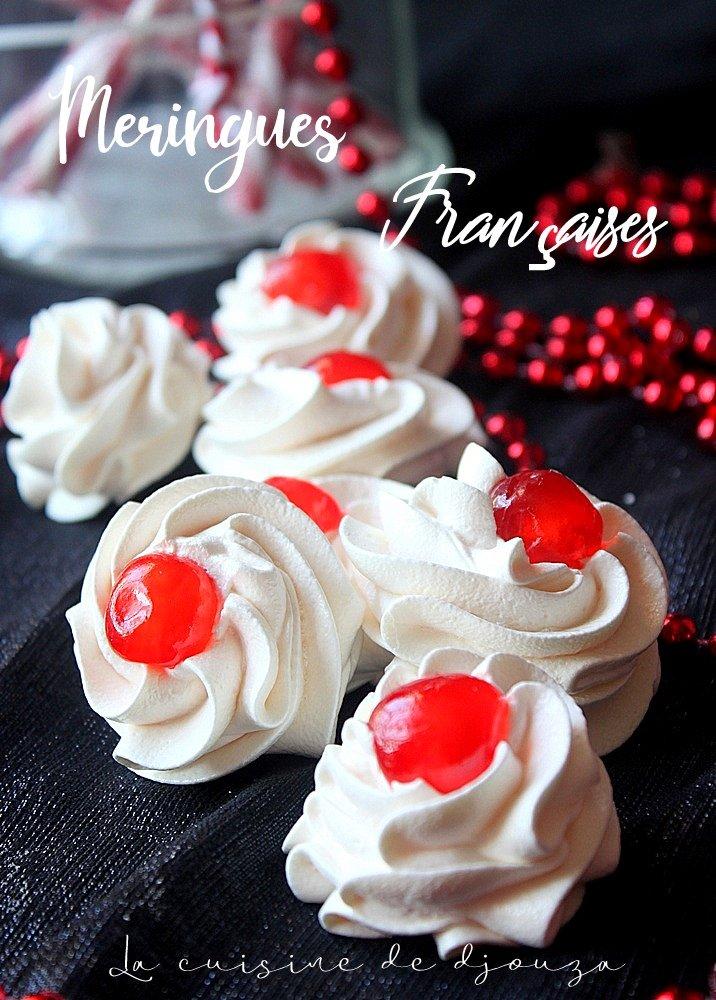 Petites Meringues françaises (sans sucre cuit)