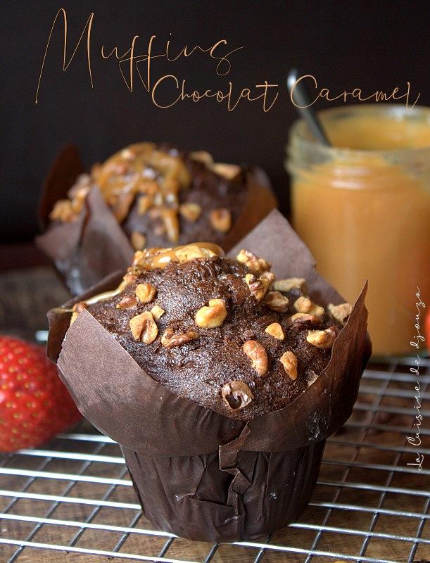 Muffins chocolat caramel beurre salé