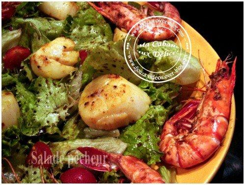 Salade de la mer entrée facile