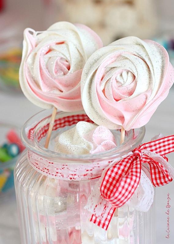 Recette meringue sucette bicolore