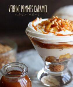 Verrines gourmandes pommes caramel