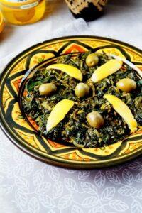 bakkoula salade d'épinards