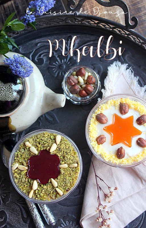 Mhalbi algerien, creme dessert à la farine de riz